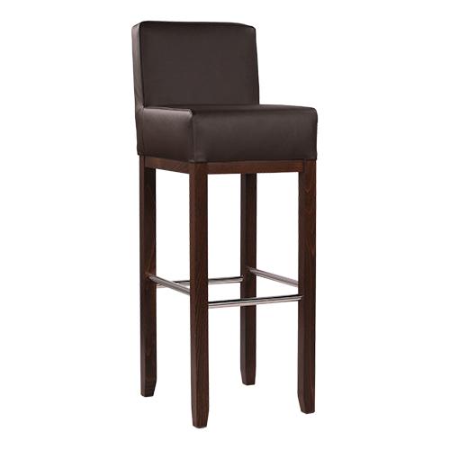 Dřevěné barové židle kovové podpěry nohou