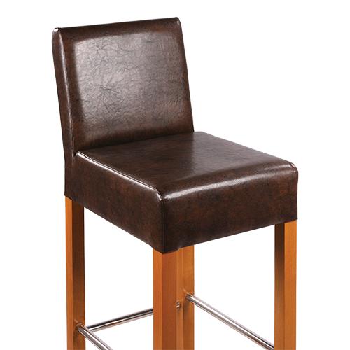 Dřevěné barové židle čalouněné s opěradlem