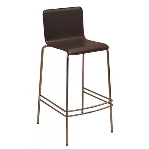 Barové židle TINO s koženým sedákem a možností stohování