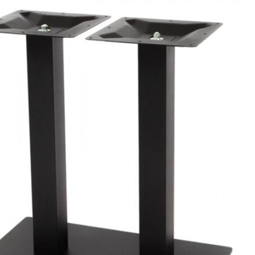 Kovové dvojité nohy kue stolu NIZZA