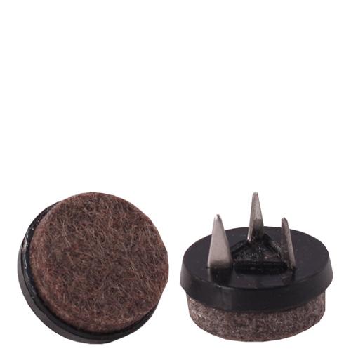 Podlahový kluzák PMR hnědý filcový (set 4 ks)