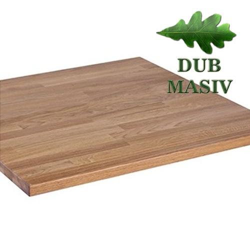 Stolové desky masivní dub síly 27 mm