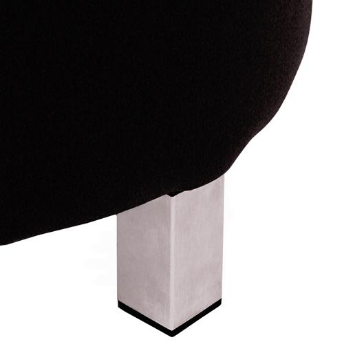 Nerezové nohy sedací taburet
