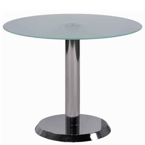 Skleněný lounge stůl kulatý