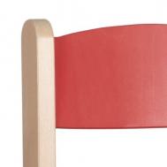 pastelová červená opěradlo