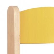 pastelová žlutá opěradlo