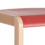 pastelová červená sedák