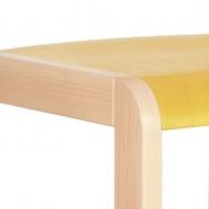 pastelová žlutá sedák