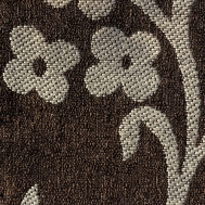 Látka s dekorem AKR 44 béžová-hnědá