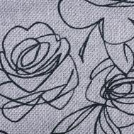 Látky s květy růží RIM01 bílá