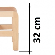 výška sedáku 32 cm