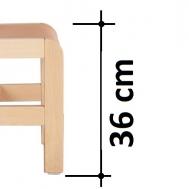 výška sedáku 36 cm