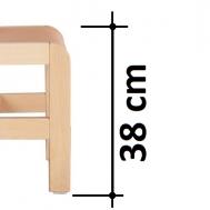 výška sedáku 38 cm