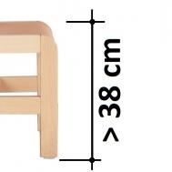 výška sedáku > 38 cm na dotaz