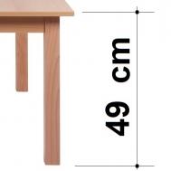 výška stolu 49 cm