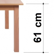 výška stolu 61 cm