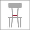 Sedáková šířka židle
