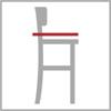 Celková hloubka barové židle 4n