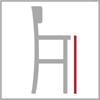 Sedací výška barové židle 4n