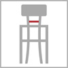 Sedáková šířka barové židle 4h