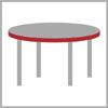 Síla stolového plátu kulatý