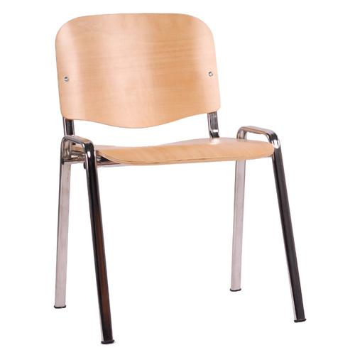 Kovové židle dřevěný sedák