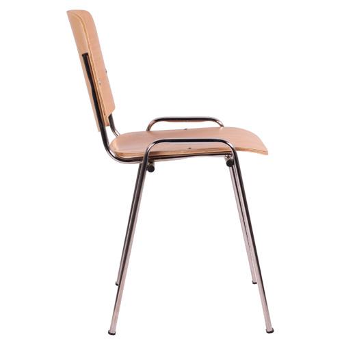 Kovoé židle stohovatelné překližkový sedák