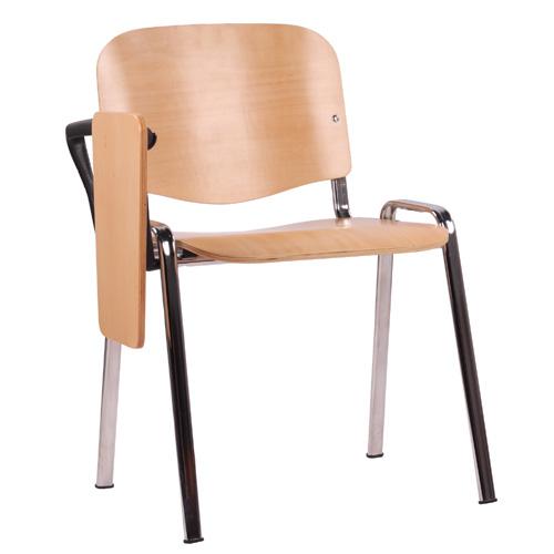 Kovové židle do školících místností s psacím stolkem