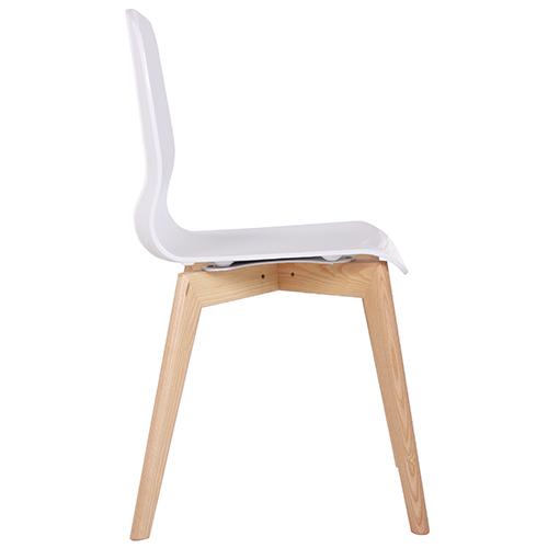 Plastové židle dřevěná konstrukce