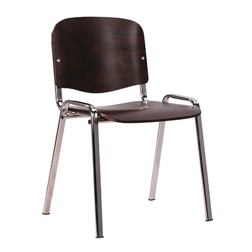 Kovové židle stohovatelné překližkový sedák