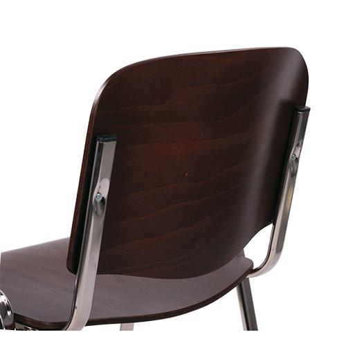 Školní židle kovové dřevěný sedák