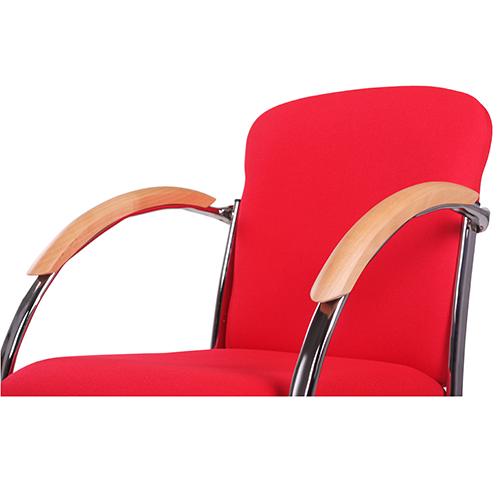 Jednací židle kov a čalouněný sedák