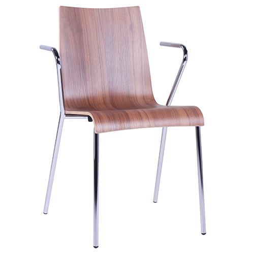 Kovové stoličky s lakťovou opierkou