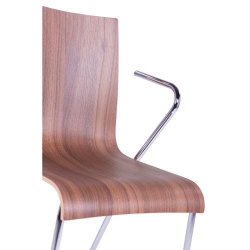 Kovoé židle s loketní opěrkou