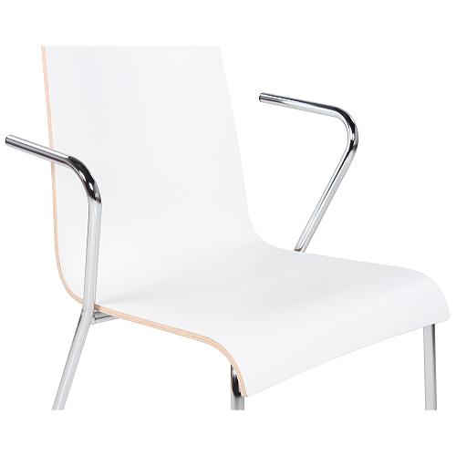 Kovové židle s loketní opěrkou