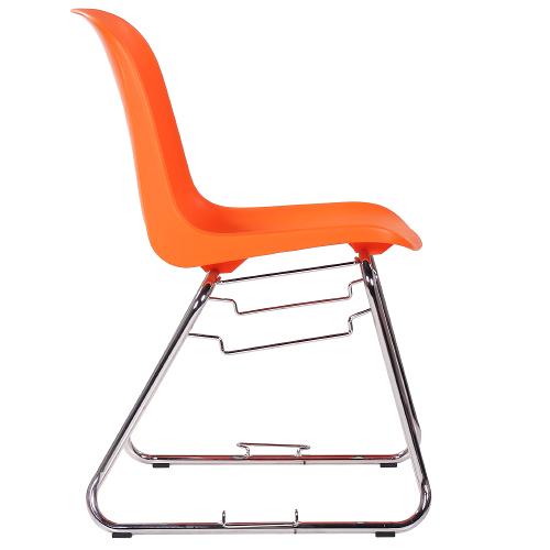 Plastové jednací židle kovová kostra