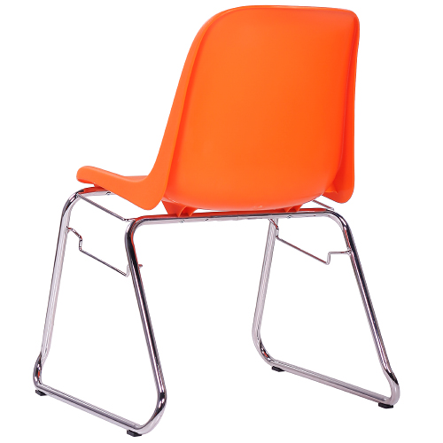 Kovové židle s plastovým, sedákem
