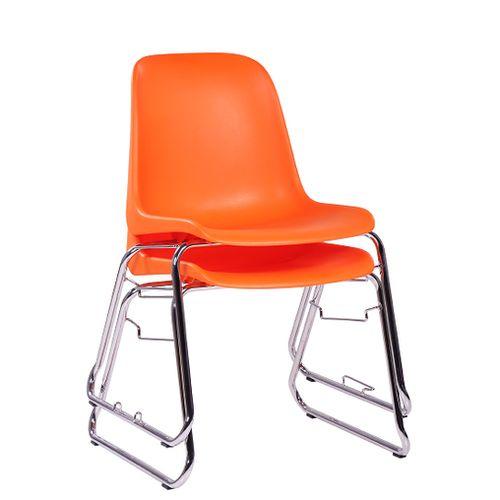 Plastová židle PAULA s možností stohování kovová kostra