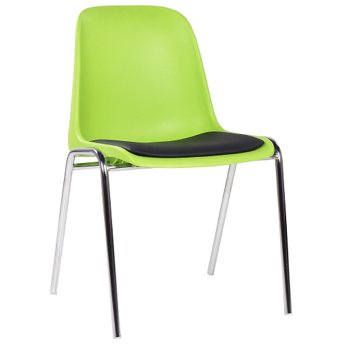 Kovové stoličky s čalůnením