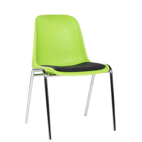 Plastové židle PAULA P s čalouněným sedákem