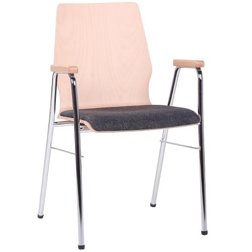 kovové stoličky škrupinové HPL