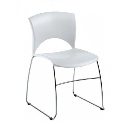 Plastové židle s kovovu kostrou