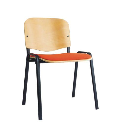 Dřevěná židle s čalouněným sedákem