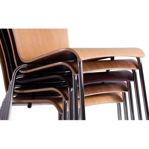 Kovové židle stohovatelné bistro ROMAN