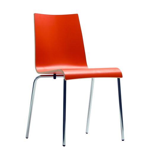 Kovová židle s HPL sedákem