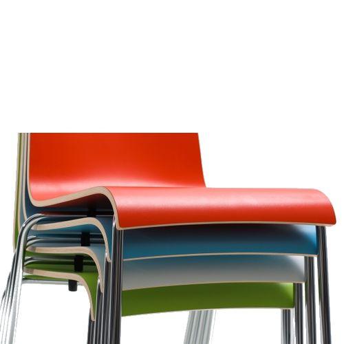 Kovové židle HPL sedák