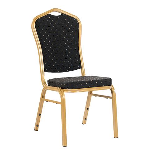 Kovové banketové židle látka černá