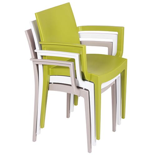 Plastové židle s možností stohování
