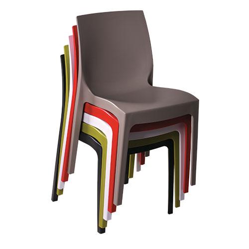 Plastové židle ISA různé barvy