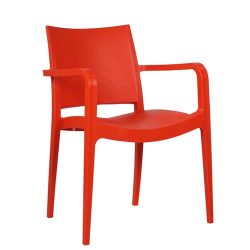 Plastové židle s plastovým sedákem